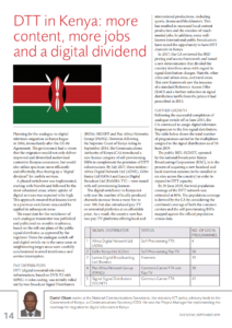 Image preview of the pdf article on DTT in Kenya